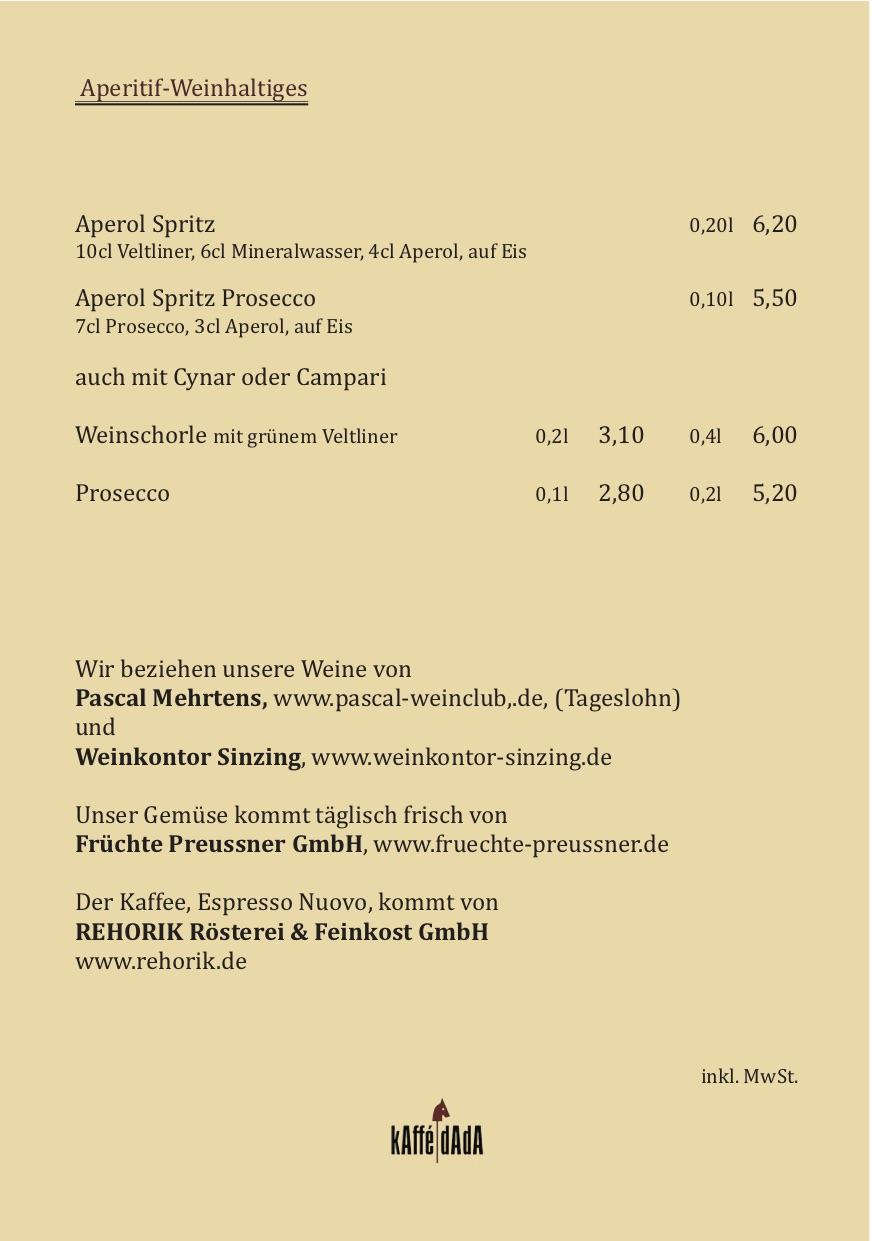 Aperitif-Weinhaltiges